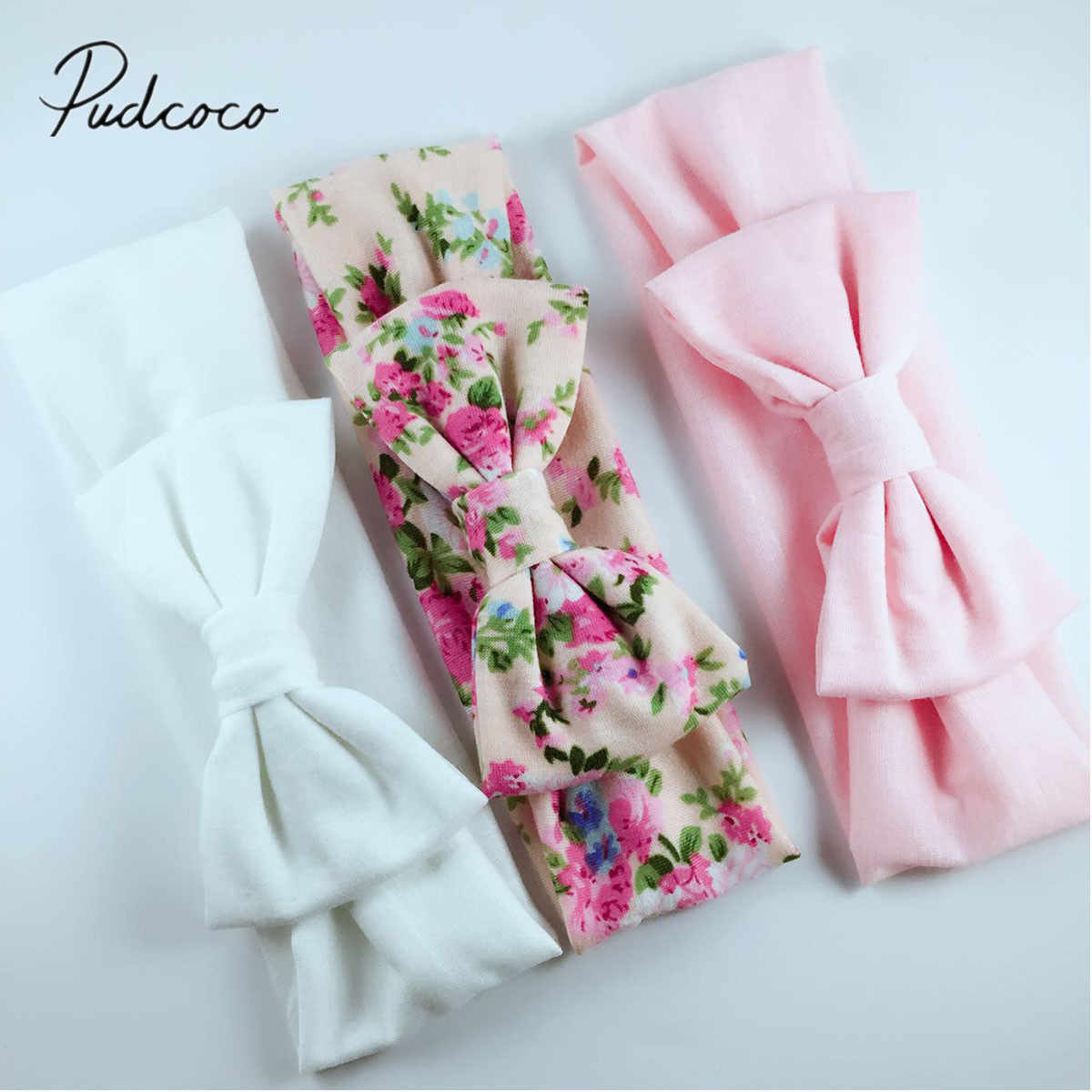 2018 Brand New 3PCS Stretchy Twist Knot Bow Head Wrap Headband Twisted Knotted Cute Hair Band Baby Gifts