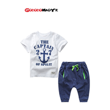 2016  Clothing set Clothes Boys Set T-shirt Shorts & short Pants Costumes casual Teen Clothing children's wear Spring Autumn