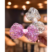 1pc kids girls 9cm mesh hair bow sequin clips for party performance princess hairpin barrette Girls accessories