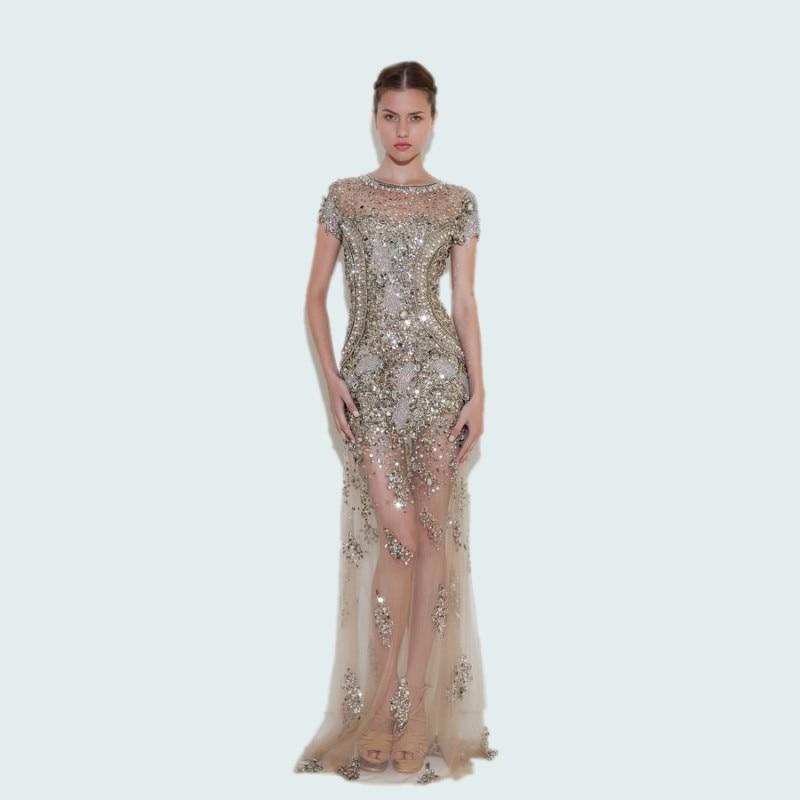 luxury formal long evening font b dresses b font crystal 2016 beaded robe de soiree fashion