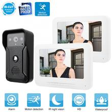 7 Inch LCD Video Door Phone Intercom Doorbell Kit Waterproof Home Entry System 1V2 waterproof smart door bell motion sensor