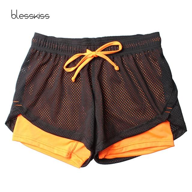 Blesskiss Yoga Shorts Women Fitness Top Spandex Neon Elastic Lulu Running Workout Short Leggings For Ladies Gym Sport Shorts 3