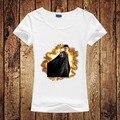 Camiseta de Las Mujeres Harajuku Estilo 2016 Producto de Moda Harry Potter Impreso Camiseta de Las Mujeres de La Muchacha Ropa Divertida Tee Señora Short Remata camisetas