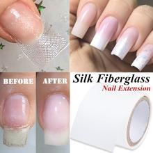 Для ремонта ногтей, стекловолоконная шелковая обертка, самоклеющаяся, анти-повреждение, сделай сам, сильная защита, усиленная наклейка для наращивания