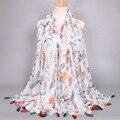 Мода Кисточки женщин printe цветочный узор платки популярны хорошие мусульманские обертывания bandelet дизайн шарфы/шарф 10 шт./лот
