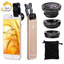 3 в 1 Объективы для мобильных телефонов рыбий глаз+ широкоугольный+ макро объектив камеры для iphone 7 6s plus 5s/5 xiaomi huawei samsung