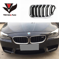 F10 Chrome Gloss Black M5 Style Car Styling Front Racing Grill Grille for BMW F10 M5&F10 5 Series 520i 523i 525i 530i 535i