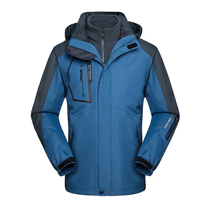 CCIVICFREE Men Waterproof Trekking Hiking Camping Climbing Jackets Outdoor Winter Thermal Warm Plus Size 3 in 1 Snowboard Jacket