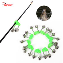 10 Pcs Fishing Rod Bells Fishing Bite Alarms Rod Clamp Tip C