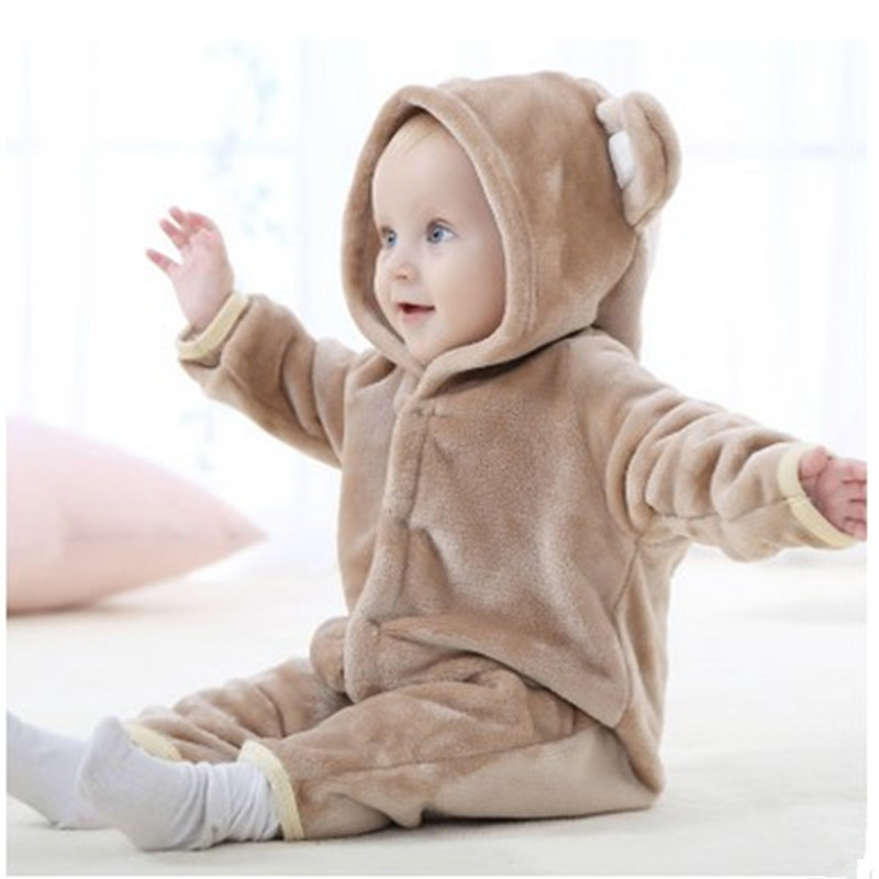 84a076a66 Newborn baby romper 2017 autumn and winter flannel baby body cute newborn  baby boy clothes girl romper long sleeve body jumpsuit-in Rompers from  Mother ...