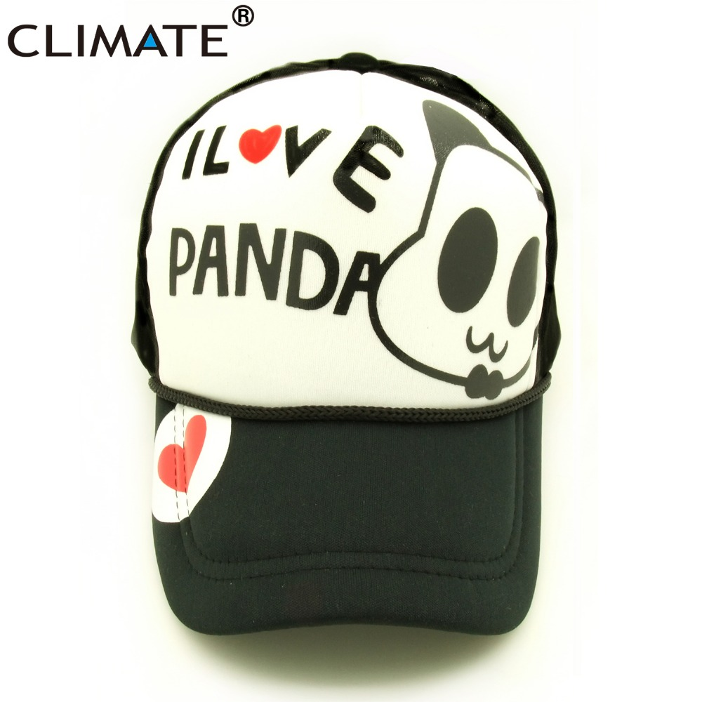 CLIMATE I love Chinese Panda Fans Cute Lovely mesh trucker baseball cap Adjustable Unisexual Net Cool hats gorras for men women climate men women summer cool mesh cap remix music dj hardwell on air fans cool baseball mesh summer net trucker caps hat fans