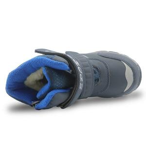 Image 4 - Apakowa冬男の子の雪のブーツ防水アンクル子供ブーツフラット暖かいwollen裏地子供の靴ぬいぐるみ冬のブーツ男の子