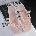2017 Verano La Nueva Crystal Chanclas Sandalias Planas de las Mujeres de Interior Zapatillas de Baño Sandalias de Los Zapatos de Las Mujeres