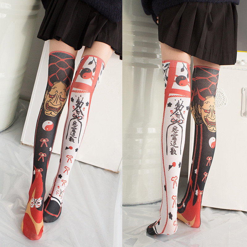 Polyester Harajuku Stockings Girls korean japanese <font><b>kawaii</b></font> Thin <font><b>Socks</b></font> Casual Thigh High <font><b>Knee</b></font> <font><b>Socks</b></font> Womens Long <font><b>Socks</b></font> 5S-SW07 image