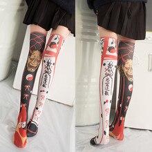 Polyester Harajuku Stockings Girls korean japanese kawaii Thin  Socks Casual Thigh High Knee Womens Long 5S-SW07