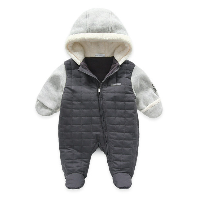 Brand Winter Baby Boys Romper Warm Thick Newborn Clothing Baby Jumpsuits for winter
