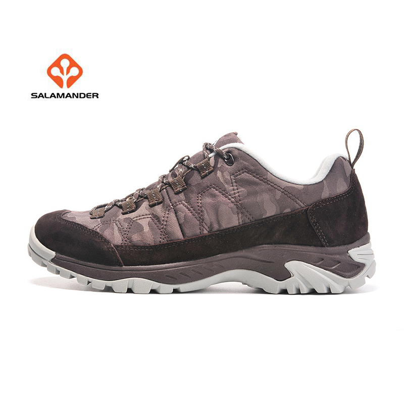 online store 9756a af678 US $47.48 51% OFF|SALAMANDER Men's Leather Outdoor Hiking Trekking Sneakers  Shoes For Men Sport Climbing Mountain Trail Shoes Sneaker Man-in Hiking ...