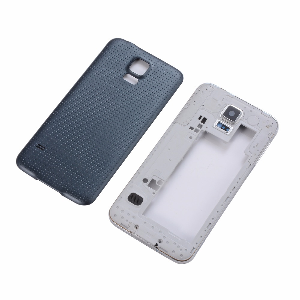 Original For Samsung Galaxy S5 I9600 G900F G900T G900V G900A Housing Middle Frame Bezel+Battery Back Cover