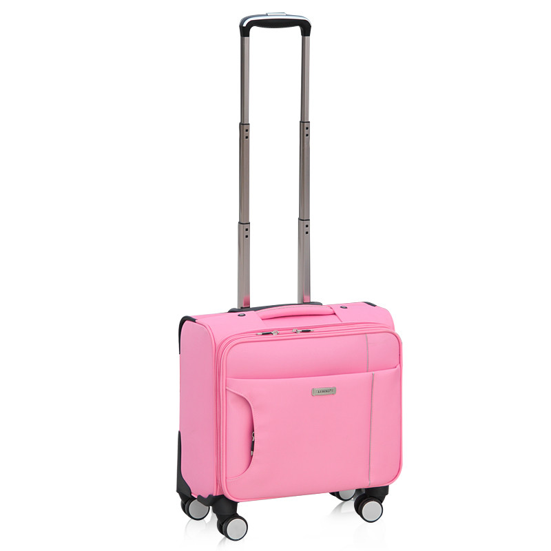 Commercial small universal wheels trolley luggage14 16 18 20male oxford fabric travel luggage bag female,waterproof luggage bags