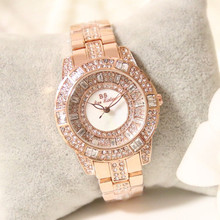 New Hot Sale Scale Watch No Digital Rhinestone Golden Silver Rose Gold Ladies Fashion & Casual  Chronograph