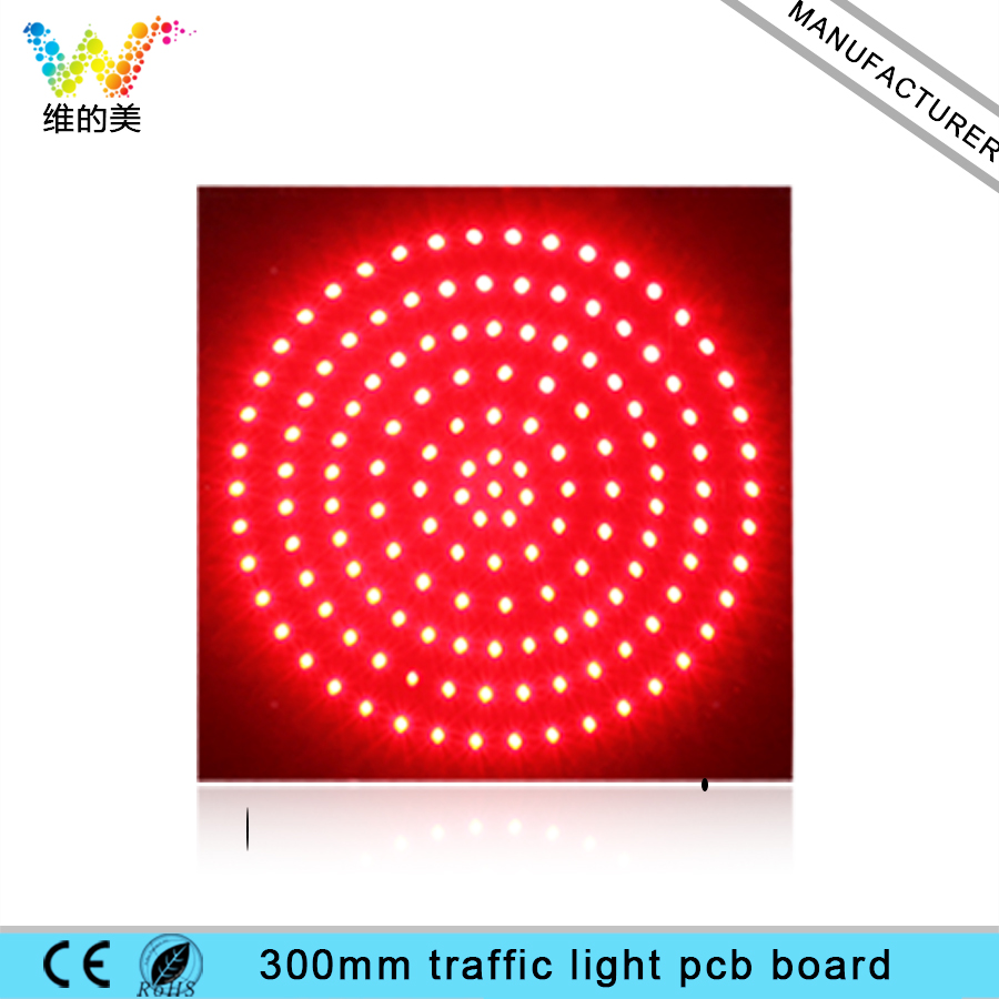 WDM DC 12 V 300 Mm Traffic Light PCB Board 290*290 Mm Lacquer Coated Three-proofing