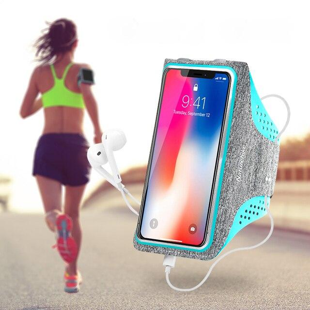 ace1bae542b Caso corriendo deportes brazo bolsa titular del brazalete de teléfono  celular correa de la aptitud banda. Sitúa el cursor encima para ...