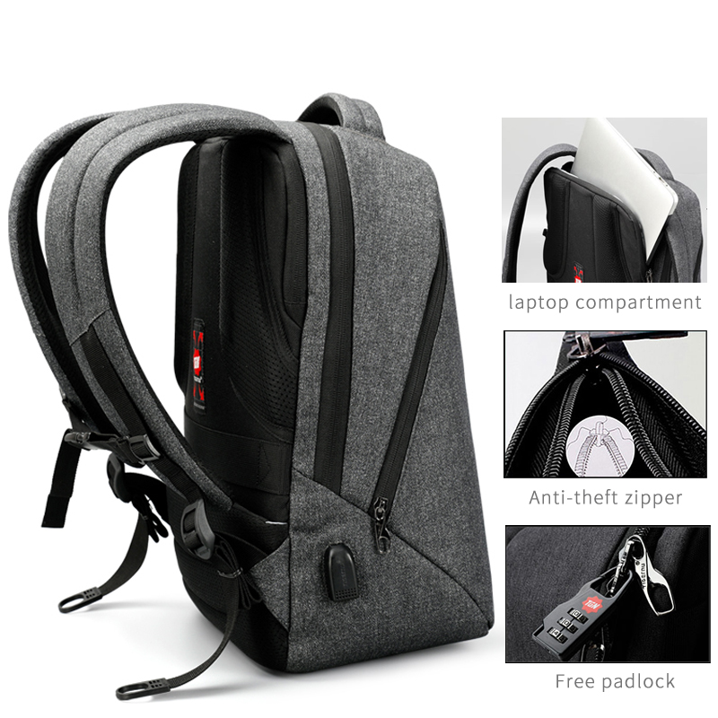 Image 5 - Tigernu Brand USB Charging Backpacks Men Light Slim Minimalist  Fashion Women Backpack school bag 14  17 Laptop Backpackcharging  backpackwomen backpacks school bagbackpack school bag