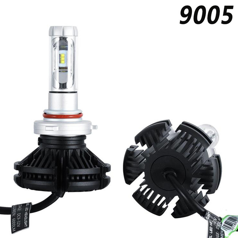 Car LED Headlights H7/9006/H4/H11 LED Headlight Bulbs X3 ZES Chip 50W 12000LM/pair IP68 200m Range Hi/Lo Beam Bright Lamp Auto Pakistan