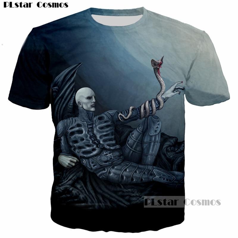 PLstar Cosmos Newest Design Movie Prometheus Skull & Snake 3D Printed Men/Women T-shirt casual tshirt Tee tops print t shirt