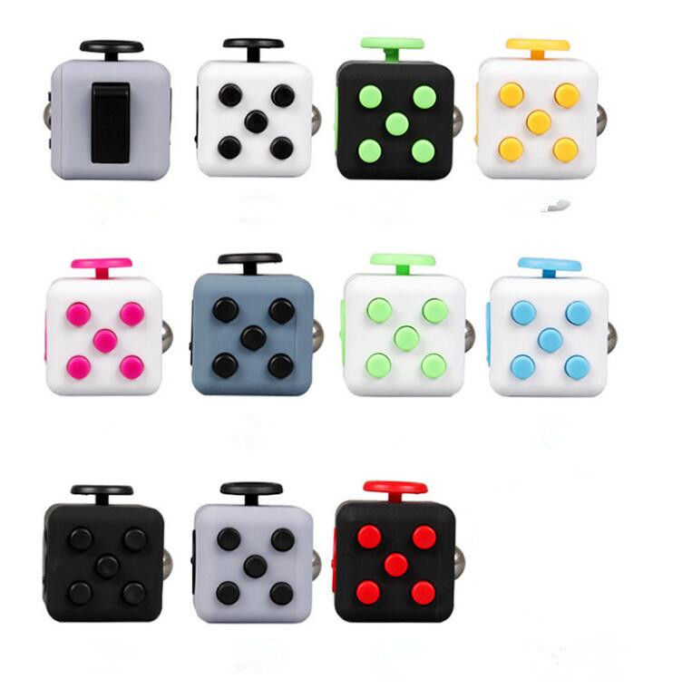 Size 3.3*3.3cm Fidget Cube Toy A Viny Desk Spin Anti-stress Fidget Toy Gifts For Children Stress Wheel 11colos new fidget spinner desk anti stress finger spin spinning top edc sensory toys cube gifts for children kid bm88