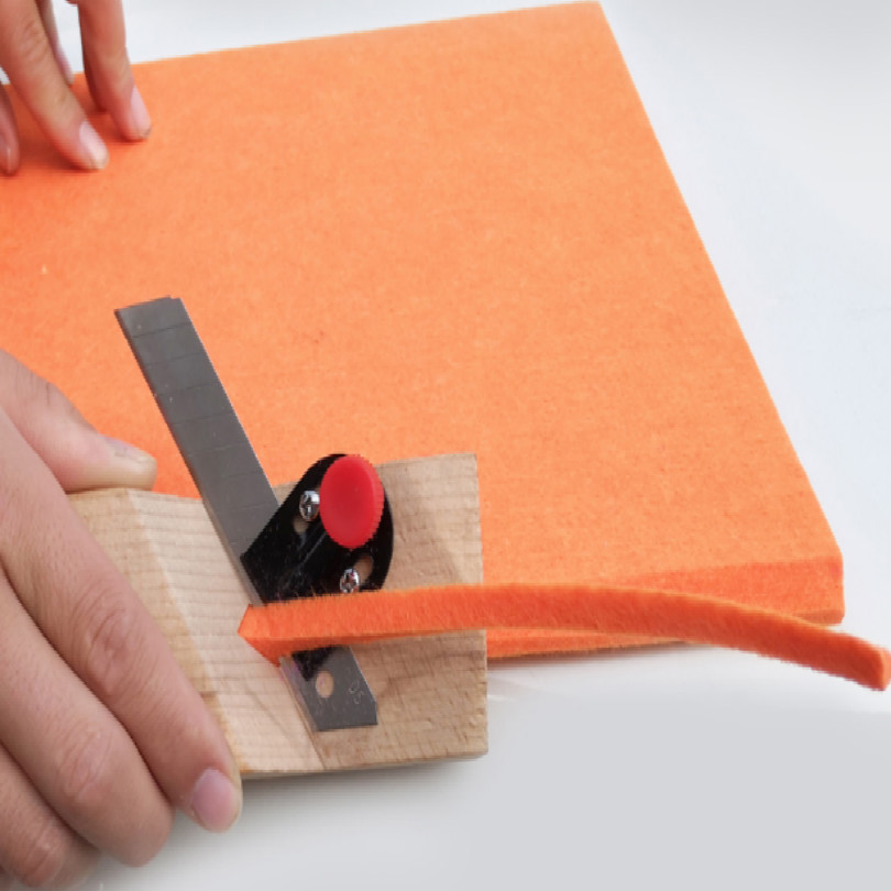 Polyester Fiber Sound-absorbing Board Man-made Board Edge Bevel Angle Cutter 45 Angle Gypsum Board Cutter Edge Trimmer