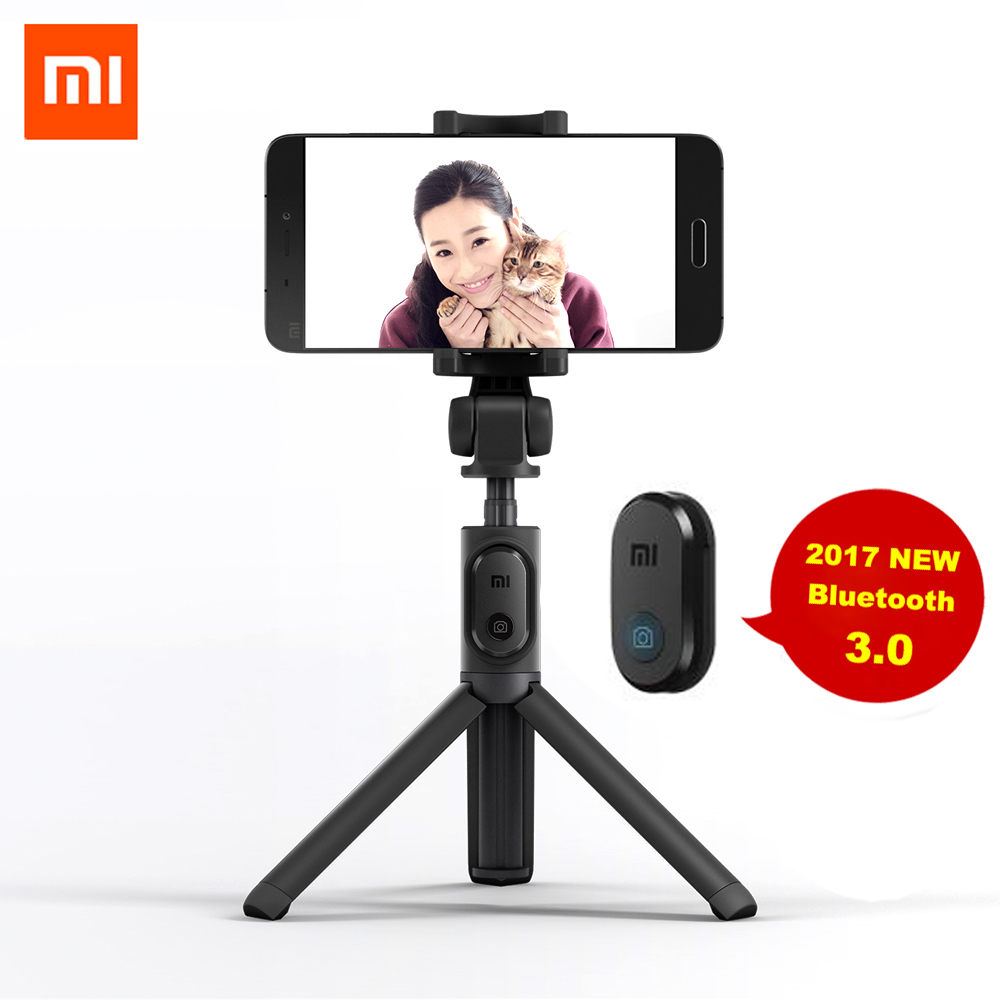 все цены на 100% Xiaomi Selfie Stick Foldable Tripod Bluetooth Selfiestick With Wireless Shutter Selfie Stick For iPhone Android Xiaomi