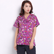New Medical Apparel Scrub Hospital Nurse Uniform Short Sleeve Summer Surgical Gown Laboratory Workwear Nurse Apparel Tops