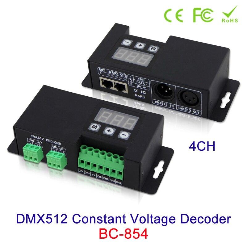 NEW 4CH DMX512 Constant Voltage Decoder RGBW 3-digital-display shows DMX address, DC12V-24V in DMX512/1990 out 4-channel CV PWM 4channel 4ch pwm constant current dmx512 rdm led decoder with digital display xlr3 rj45 port dc12v 48v input setting dmx address