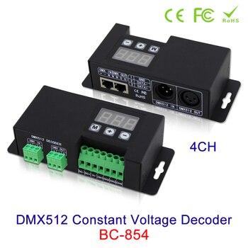 NEW 4CH DMX512 Constant Voltage Decoder RGBW 3-digital-display shows DMX address, DC12V-24V in DMX512/1990 out 4-channel CV PWM