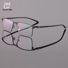 Custom wykonane recepty okulary optyczne fotochromowe klasyczny duży Stop tytanu Rama Full-RIM krótkowzroczność krótki wzrok czytania tanie tanio Titanium Mężczyzn Clara Vida z asdfadsf Poliwęglan Chiny (kontynent)