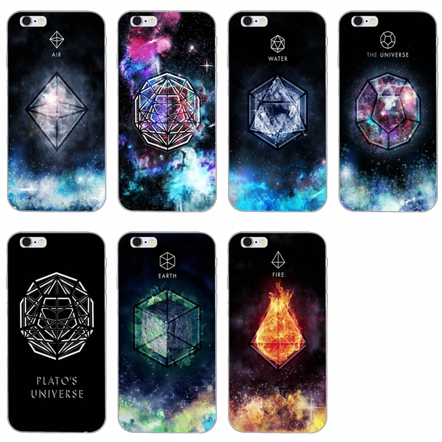 Earth Element Symbol Air Water Fire Silicone Soft Phone Case For