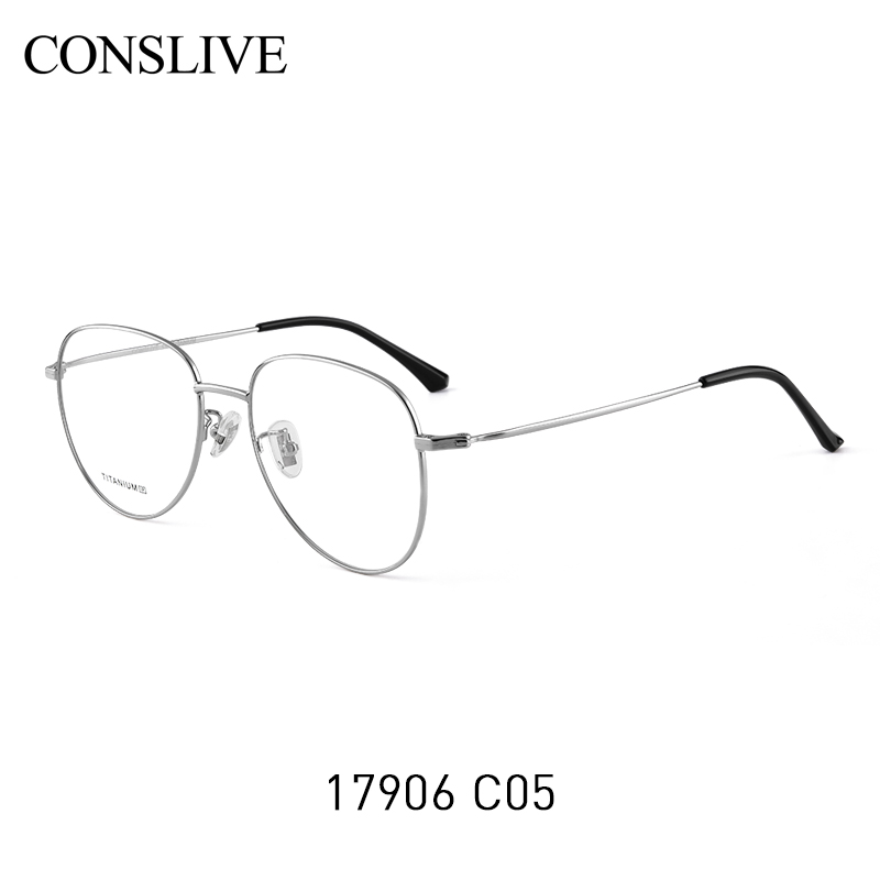 Brillen Übergroßen Pilot c4 Rahmen Für Brille Gold Black Frauen Progressive Rose Titan Silver c5 Absolvierte C1 Myopie Multifokale HdqpFw