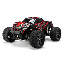 лучшая цена RC Car 1/16 Scale 2.4G 40km/h High Speed 4WD Brushed Off-Road Truck Big Wheels Bigfoot RC Car Remote Control Kids Gift