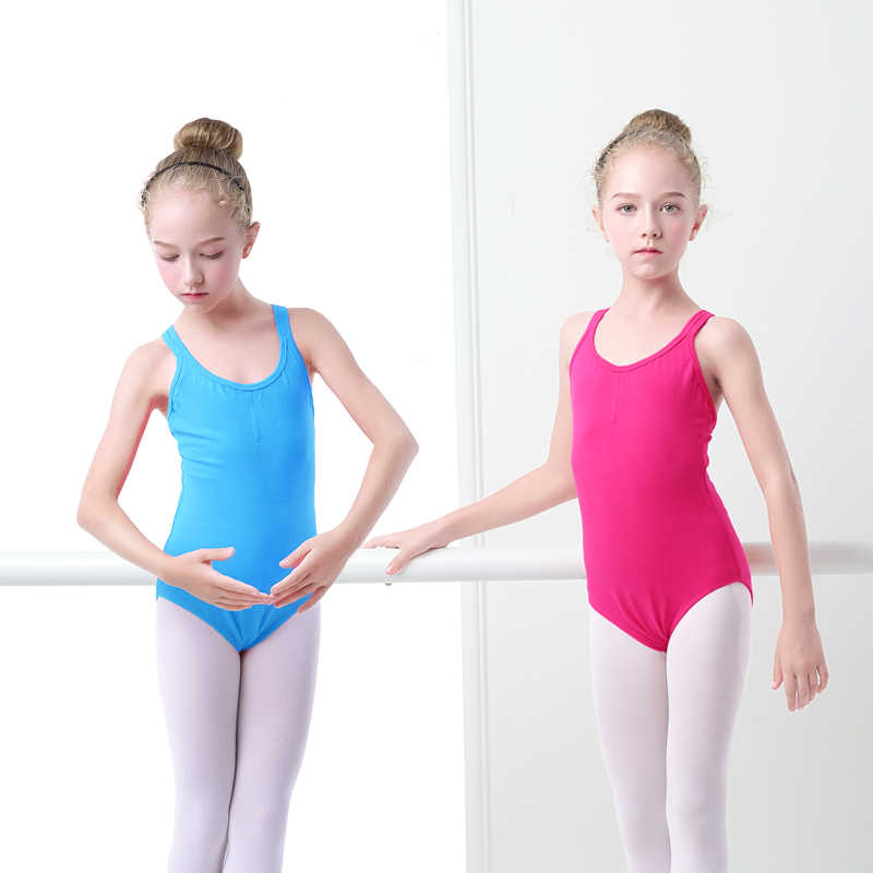 เด็กหญิงบัลเล่ต์ Leotards คู่สายรัดยิมนาสติกชุดว่ายน้ำเด็ก Camisole Leotards สำหรับหญิง