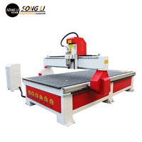 Songli 1325 3.2kw cnc woodworking machinery advertising board PVC acrylic 7.5kw vacuum adsorption table 10 days fast delivery