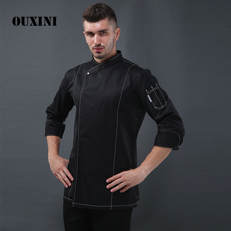 Chef Clothes Long-sleeved Autumn And Winter Chef Jacket Man Hotel Restaurant Uniform Kitchen Work Clothes