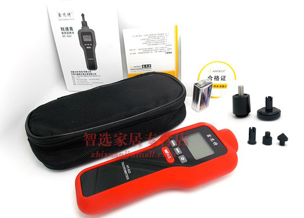 free shipping contact non contact HT522 tachometer Handheld Digital Laser Tachometer Range 1 99999RPM LCD Laser