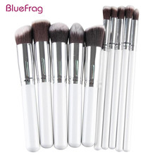 BLUEFRAG New Arrival Beauty Profissional Kabuki Kit Tool Foundation Make Up Brush Set Makeup Brush 2016 Fashion 10pcs/Set