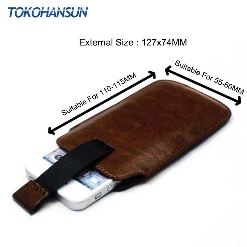 TOKOHANSUN étui universel pour Nokia E72 515 301 3310 13 couleur PU cuir pochette housse sac coques de téléphone avec fonction de retrait