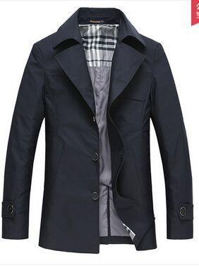 Мужская верхняя одежда& пальто новое поступление весенний хлопковый плащ-Тренч, верхняя одежда, средней длины Блейзер Большие размеры M L XL XXL 3XL 4XL 5XL 6XL 7XL 8XL - Цвет: black