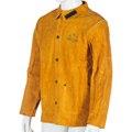 Кожа сварки куртки рабочая одежда мужчины с длинными рукавами сплит кожа коровы искра защитные сварщик одежда