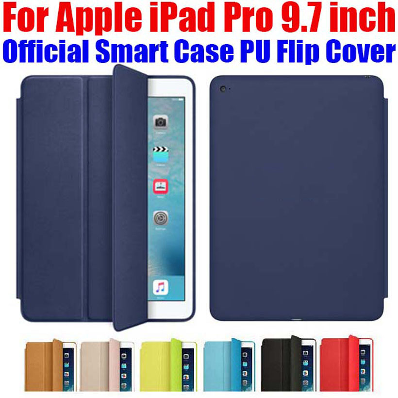 Newest official Smart Case For Apple iPad Pro 9 7 inch Ultra thin PU Leather Flip