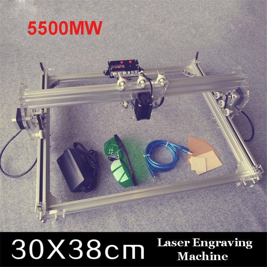 1pc 5500mw toy level diy laser engraving machine working area  30*38cm laser engraver for cutting mac