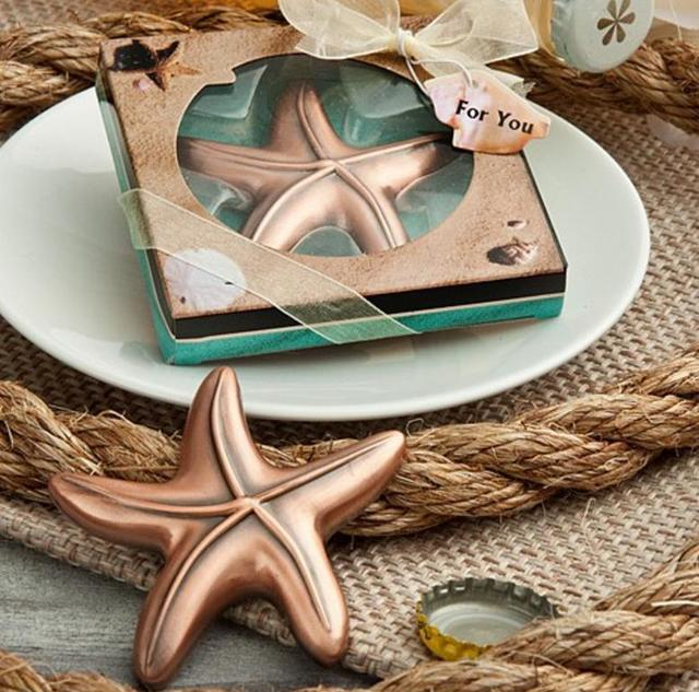 vintage airplane starfish bottle opener bridal shower wedding favor hawaiian tropical beach ocean theme party bag